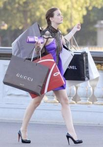 Leighton Meester, are there weights in those bags?!