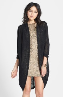 """Madison & Berkeley Long Sheer Knit Cardigan $48 (also comes in """"oatmeal"""") shop.nordstrom.com"""