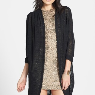 "Madison & Berkeley Long Sheer Knit Cardigan $48 (also comes in ""oatmeal"") shop.nordstrom.com"