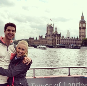 Sweethearts, Whitney and Jimmer, in London over the summer!