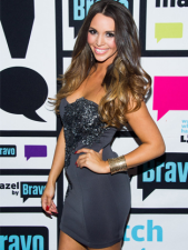 Scheana rocking a Walter Collection dress designed by Los Angeles up-and-coming designer and good friend, Walter Mendez.